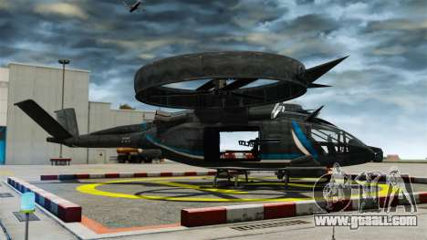 Transport helicopter SA-2 Samson for GTA 4 left view