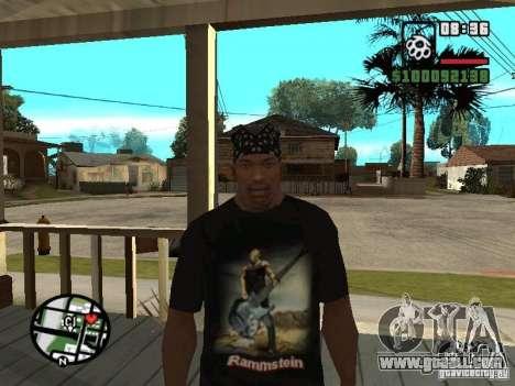 Rammstein t-shirt v1 for GTA San Andreas