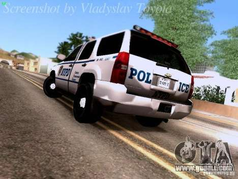 Chevrolet Tahoe 2007 NYPD for GTA San Andreas back left view