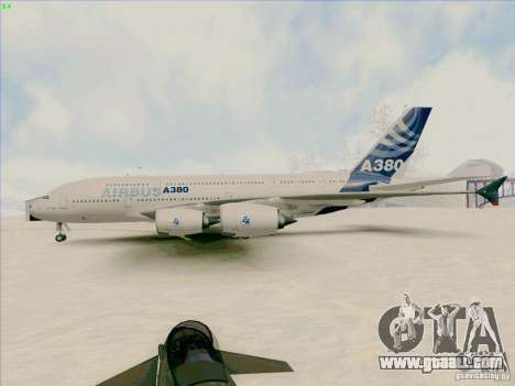 Airbus A380-800 for GTA San Andreas back left view