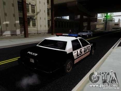 Elegant Police LS for GTA San Andreas back left view
