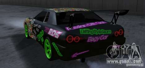New Elegy DriftingStyleTeam for GTA San Andreas back view