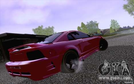 Ford Mustang SVT Cobra 2003 Black wheels for GTA San Andreas back left view