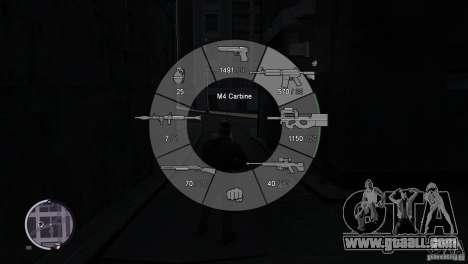 GTA 5 Weapon Wheel HUD for GTA 4