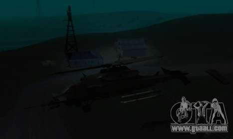 RQ-50 Hammerhead for GTA San Andreas back view
