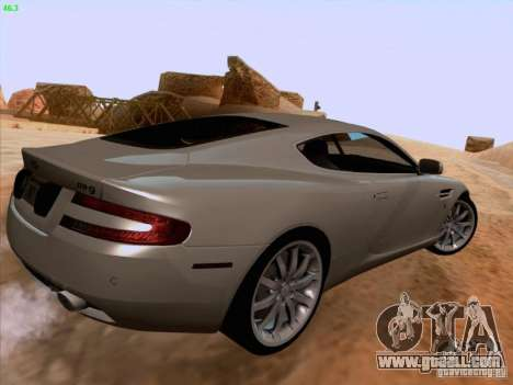 Aston Martin DB9 for GTA San Andreas upper view
