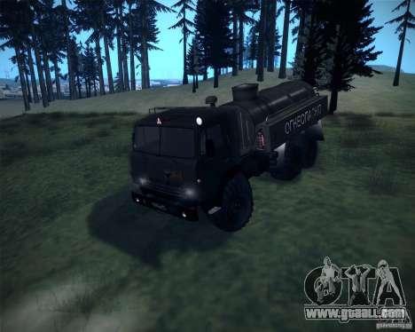 KAMAZ-4310 Bowser for GTA San Andreas