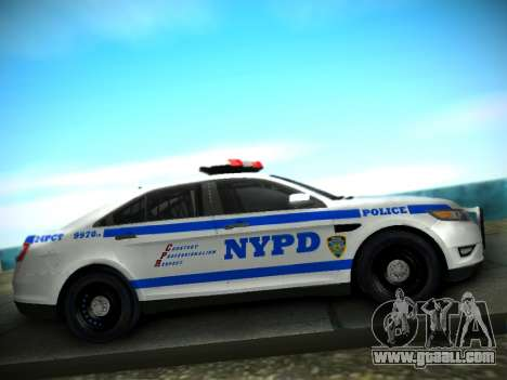 Ford Taurus NYPD 2011 for GTA San Andreas back view