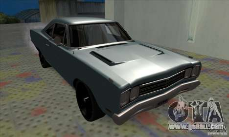 Plymouth Roadrunner for GTA San Andreas left view
