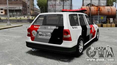 Volkswagen Parati G4 PMESP ELS for GTA 4 back left view
