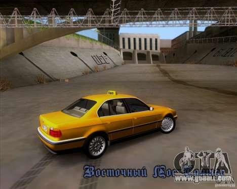 BMW 730i E38 1996 Taxi for GTA San Andreas upper view