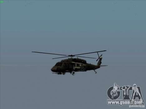 S-70 Battlehawk for GTA San Andreas side view