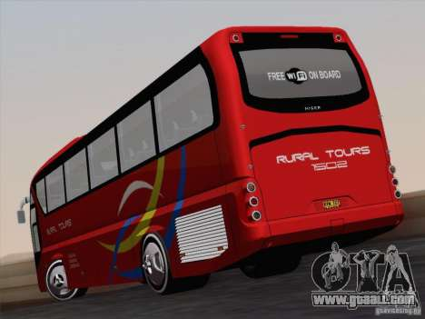 Neoplan Tourliner. Rural Tours 1502 for GTA San Andreas inner view