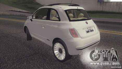 Fiat 500 Lounge 2010 for GTA San Andreas back left view