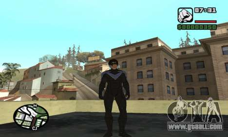 Nightwing skin for GTA San Andreas third screenshot