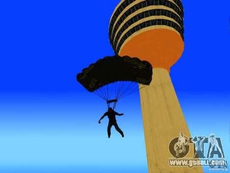 Global Parachute Mod for GTA San Andreas fifth screenshot