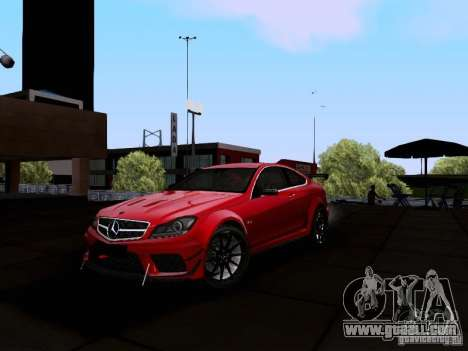 Mercedes-Benz C63 AMG 2012 Black Series for GTA San Andreas left view