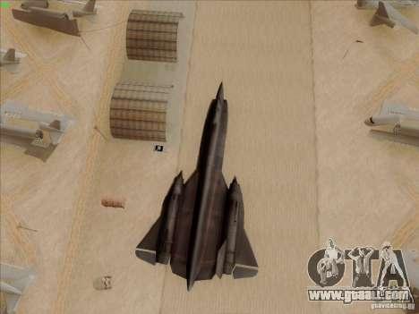 YF-12A for GTA San Andreas upper view