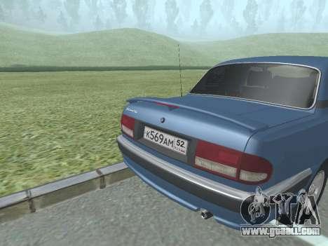 GAZ Volga 31105 for GTA San Andreas right view