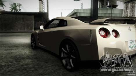 Nissan GT-R35 v1 for GTA San Andreas left view