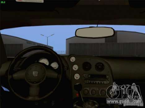 Dodge Viper GTS-R Concept for GTA San Andreas upper view