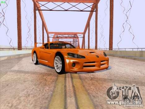 Dodge Viper GTS-R Concept for GTA San Andreas left view