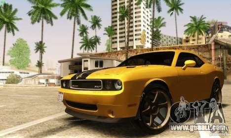 Dodge Challenger SRT-8 for GTA San Andreas inner view