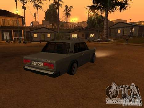 Vaz 2107 Coupe for GTA San Andreas back left view