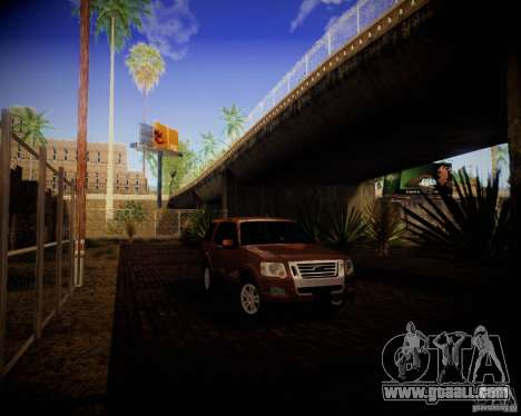 Ford Explorer for GTA San Andreas back left view