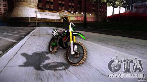 Kawasaki KLX 250S for GTA San Andreas right view