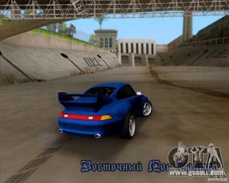 Porsche 911 GT2 RWB Dubai SIG EDTN 1995 for GTA San Andreas bottom view