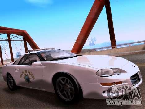 Chevrolet Camaro 2002 California Highway Patrol for GTA San Andreas right view