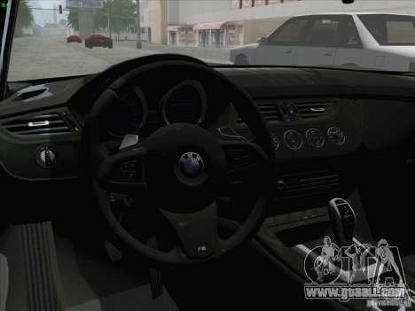 BMW Z4 2011 for GTA San Andreas right view