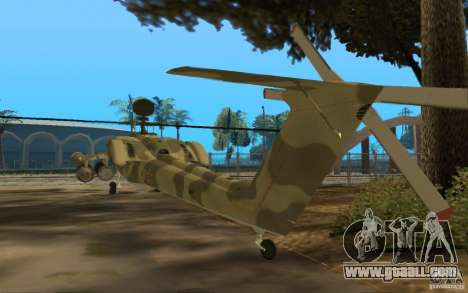 MI-28n for GTA San Andreas back left view