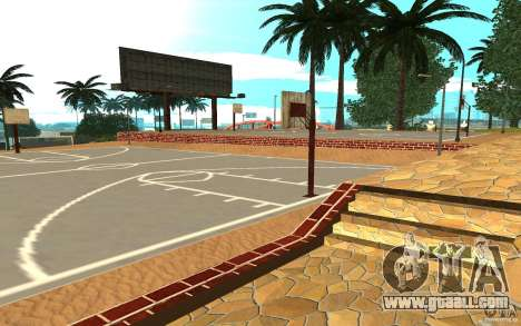 New textures basketball court for GTA San Andreas second screenshot