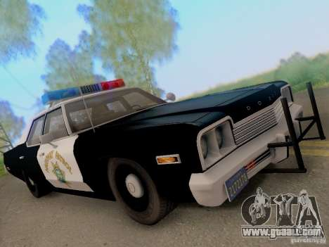 Dodge Monaco 1974 California Highway Patrol for GTA San Andreas back view
