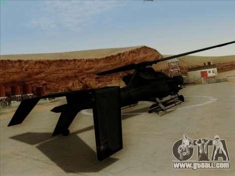 RQ-50 Hammerhead for GTA San Andreas left view