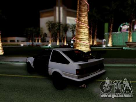 Toyota Sprinter Trueno AE86 GT-Apex Kouki for GTA San Andreas right view
