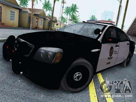 Chevrolet Caprice 2011 Police for GTA San Andreas