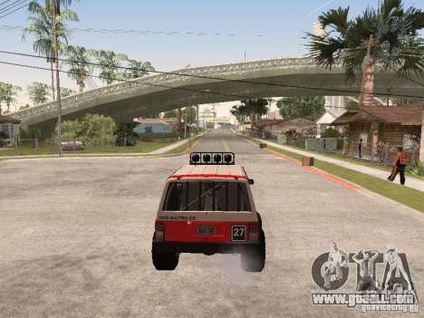 Jeep Cherokee 1984 for GTA San Andreas upper view