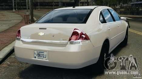 Chevrolet Impala Unmarked Detective [ELS] for GTA 4 back left view