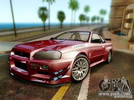 Nissan R34 Skyline GT-R for GTA San Andreas