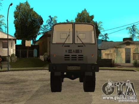 KAZ 4540 dump truck for GTA San Andreas back view