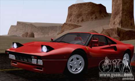 Ferrari 288 GTO 1984 for GTA San Andreas right view