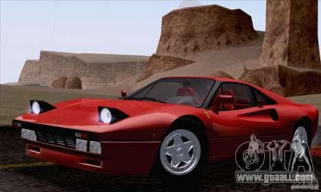 Ferrari 288 GTO 1984 for GTA San Andreas right view