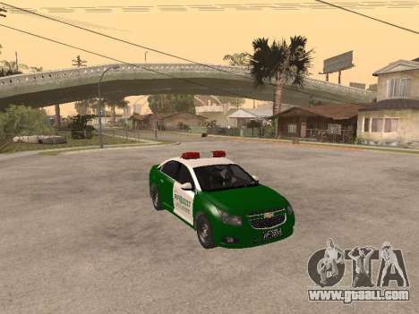 Chevrolet Cruze Carabineros Police for GTA San Andreas back view
