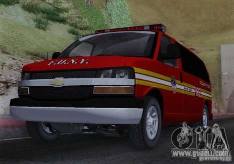 Chevrolet Express Special Operations Command for GTA San Andreas