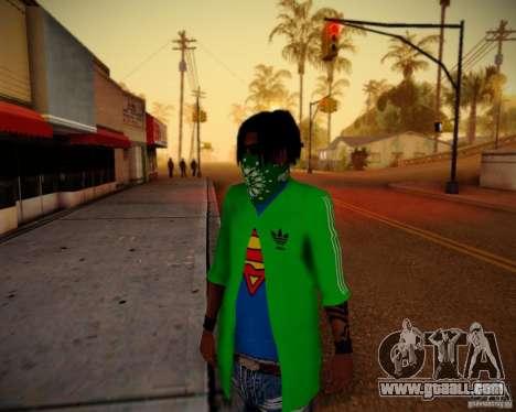 Skins pack gang Grove for GTA San Andreas