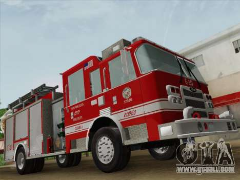 Pierce Saber LAFD Engine 10 for GTA San Andreas bottom view