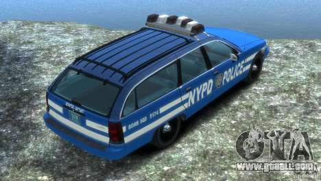 Chevrolet Caprice Police Station Wagon 1992 for GTA 4 left view